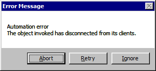 Opening Tiff image generates an error: Automation Error The Object