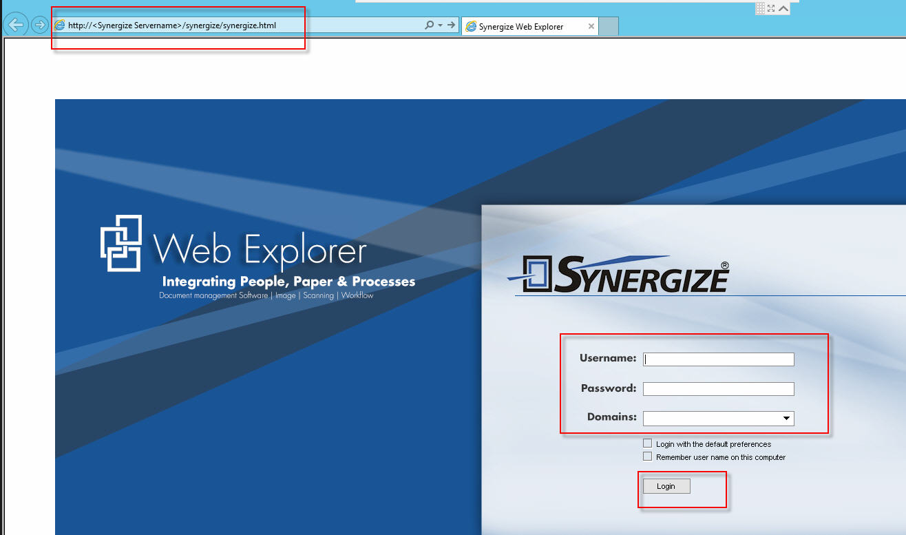 unable to email documents via synergize quicklinks or synergize web